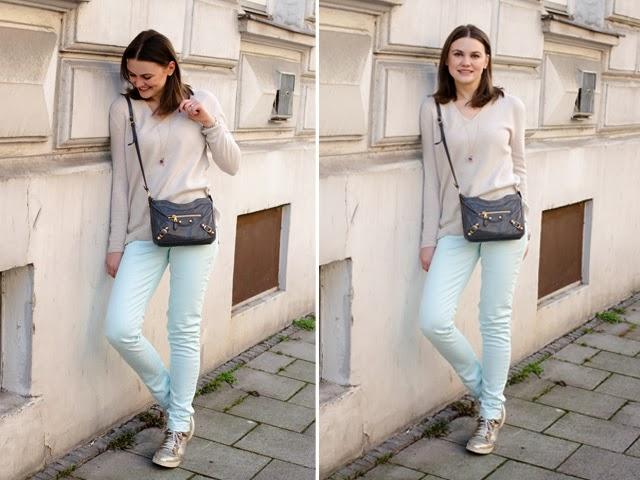 Pastel and Balenciaga Hip Bag