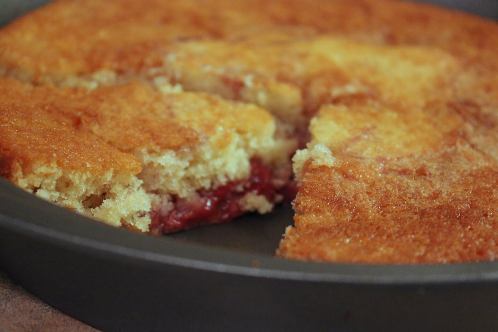 ... in the Kitchen Sink: Roasted Balsamic Strawberry Buttermilk Cake