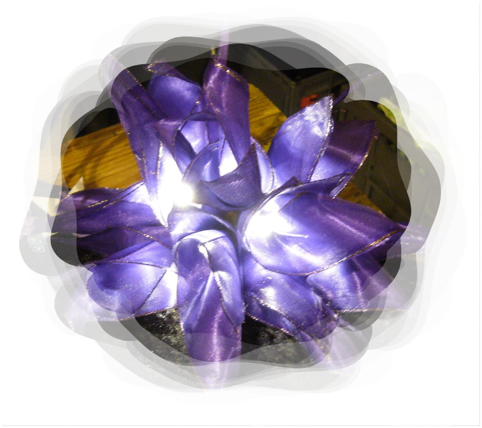 Ruka basteln sowas hat nicht jeder lichterketten aus schleifenband oft nur einzelst cke - Lichterkette lila ...
