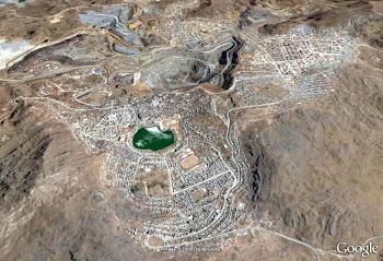 Vista satelital del Cerro de Pasco
