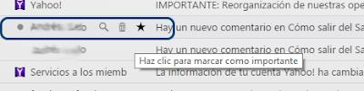 Como usar los iconos uso rapido bandeja entrada Yahoo
