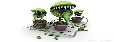 Couverture Facebook  Plantes carnivores en 3D