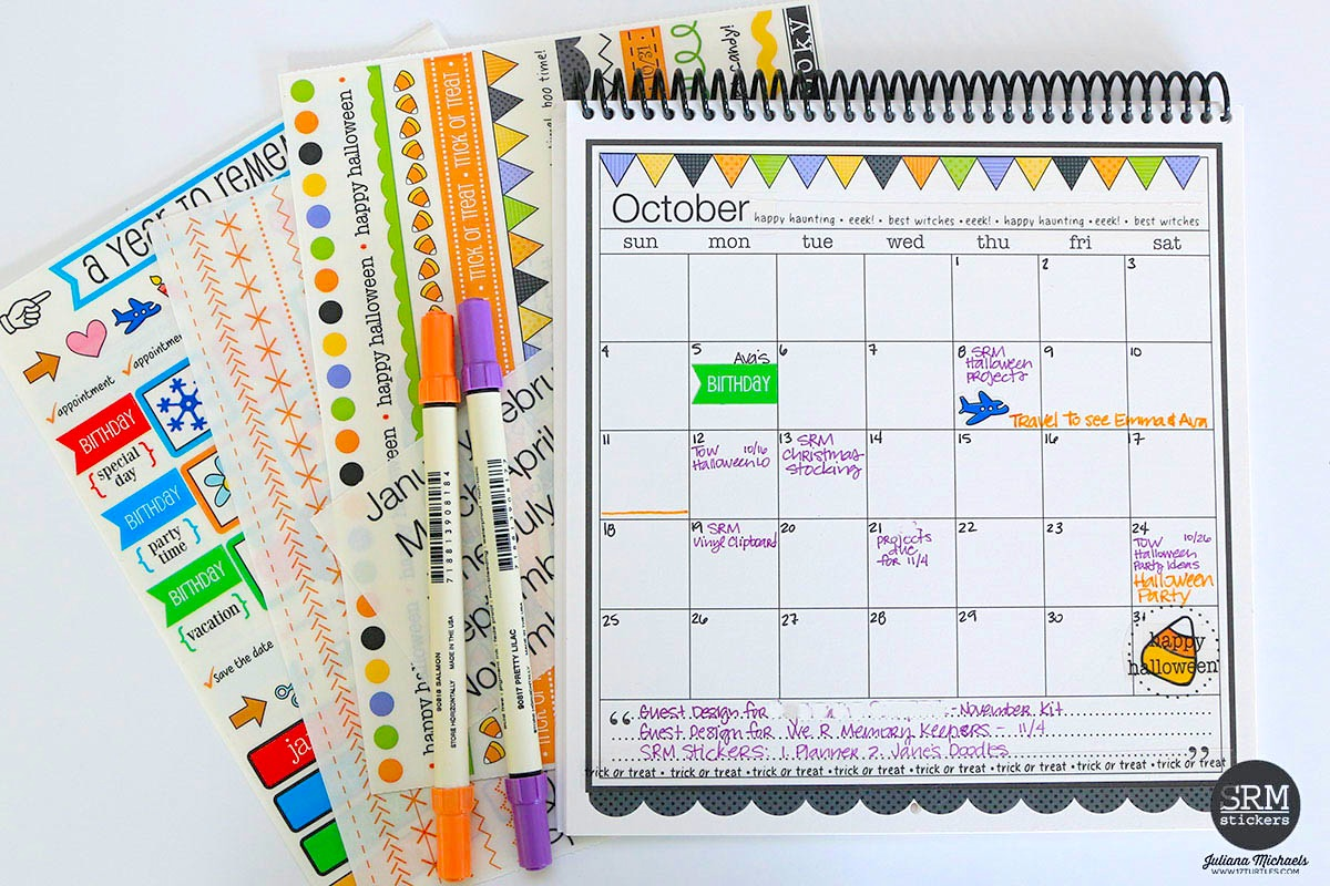 Diy Calendar Michaels : Srm stickers october planner pages calendar by juliana