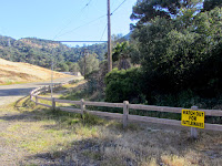 Toyon Trail heading south alongside the Toyon landfill, Griffith Park