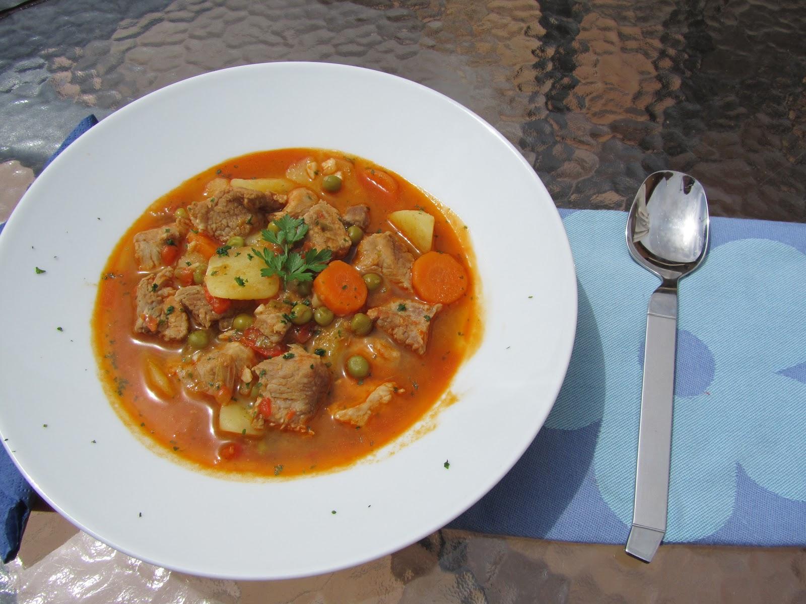 Estofado de cerdo con verduras thermomix - Guiso de carne de cerdo ...