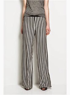 Perfect Casual Loose Strip Pants