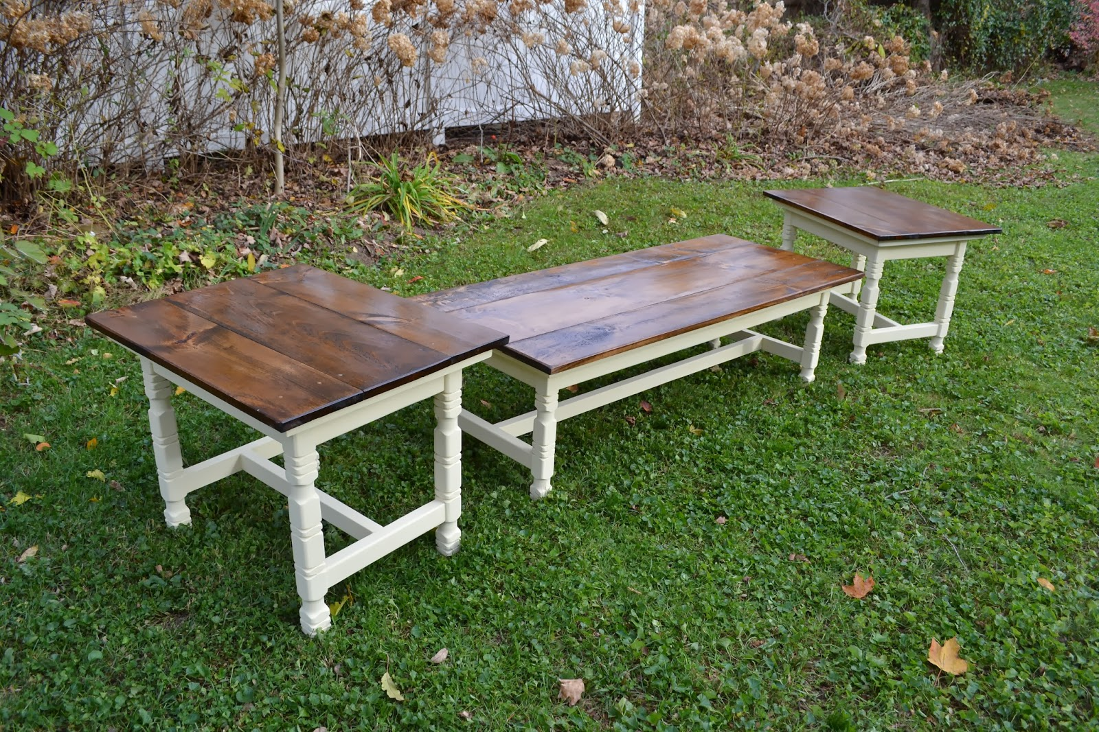 heir and space a farmhouse coffee table set