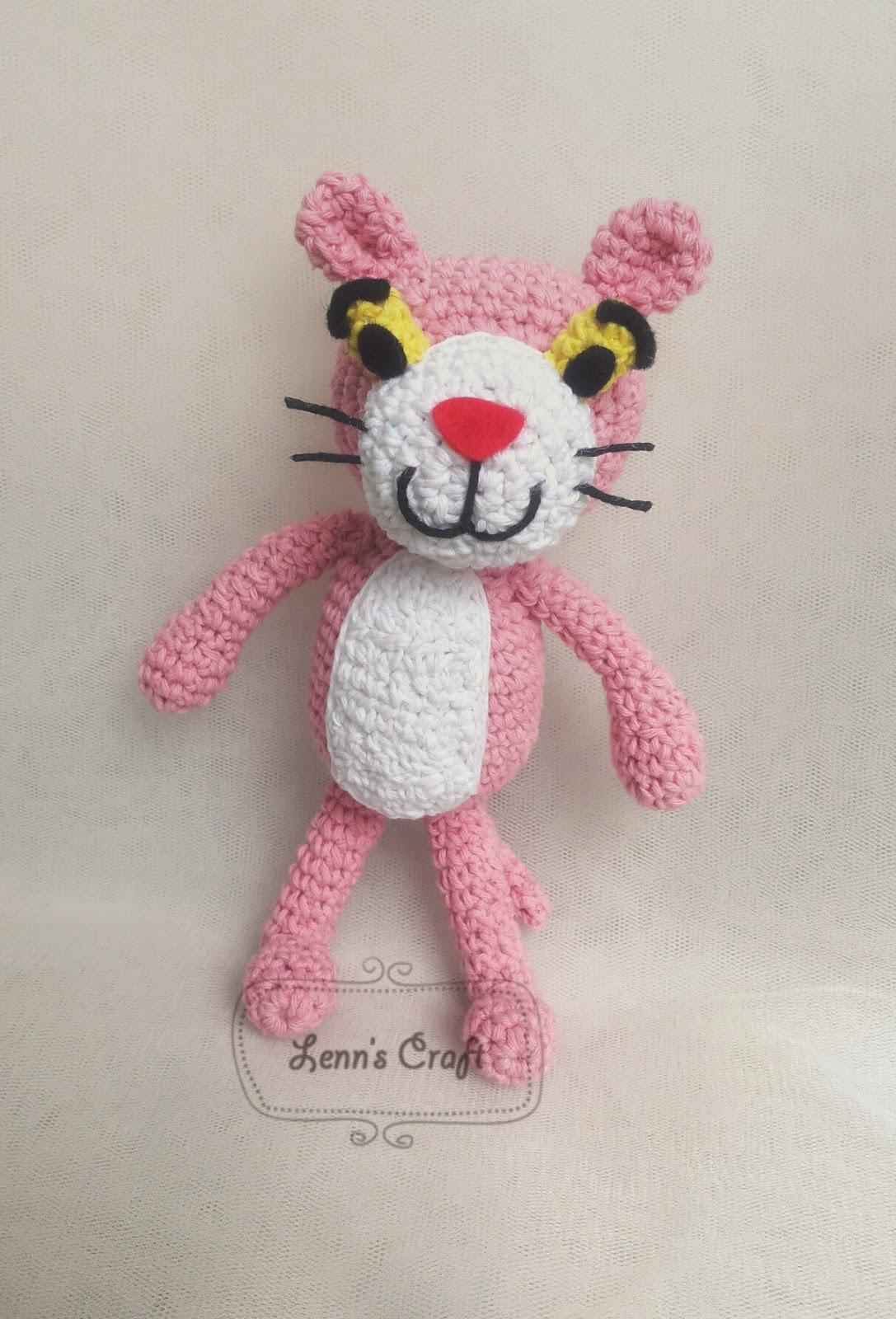 Amigurumi Free Pattern Pink Panther : Lenns Craft  Handmade doll Amigurumi  : Pink Panther ...