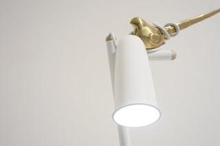 lampe monocomplex oiseaux bronze design déco