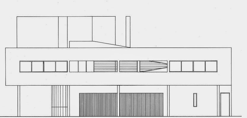 2nd Floor Elevation Design : Plans and sections villa savoye