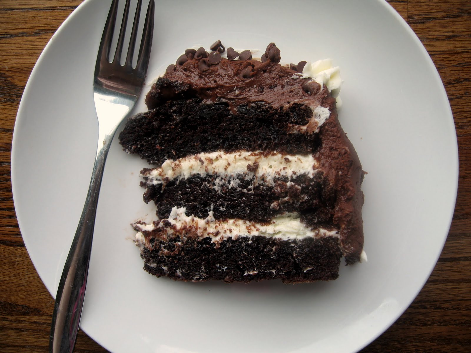 the nonpareil baker Chocolate Layer Cake with Cream Cheese Filling