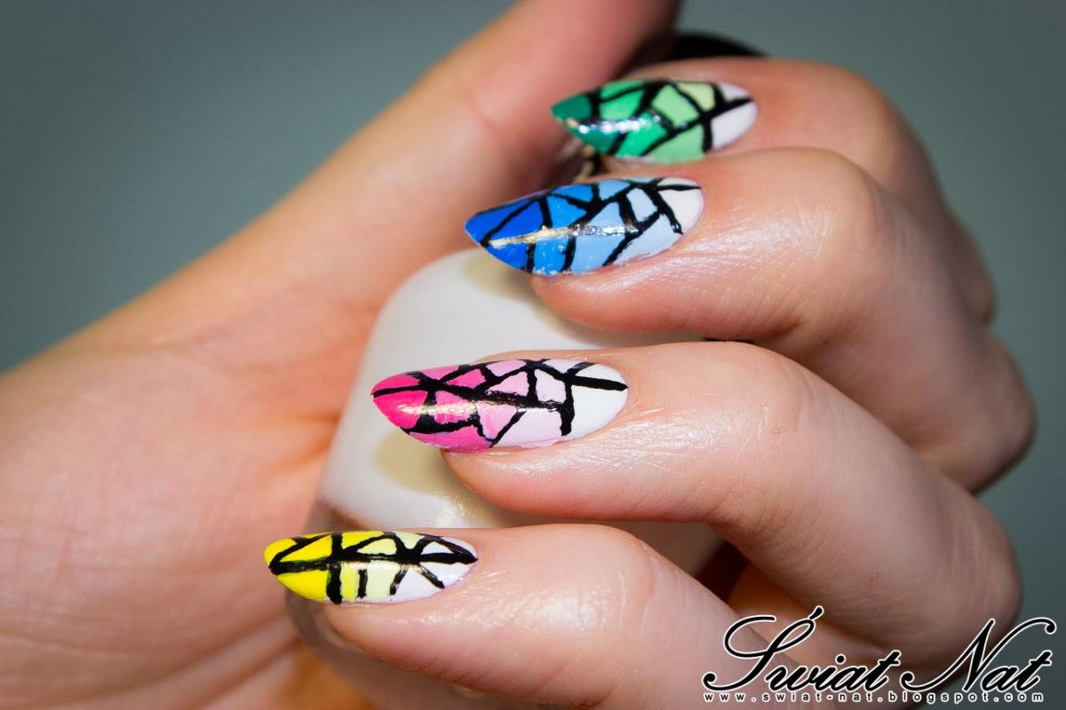 nails nailart zdobienie gradient