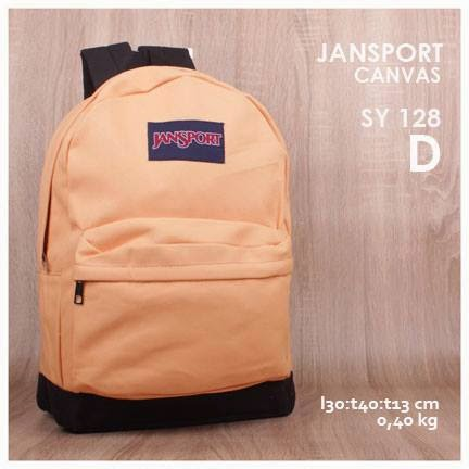 jual online tas jansport backpack kanvas polos kw super murah  warna orange