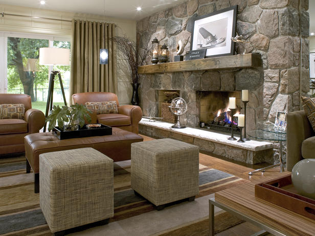 Stone Fireplace Decorating Ideas