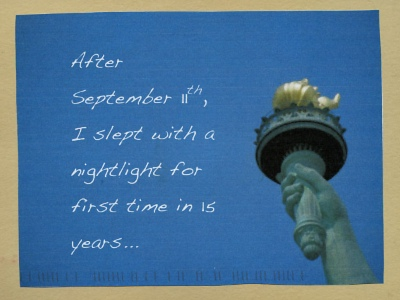 PostSecret: After september 11th, I slept with a nightlight for first time in 15 years