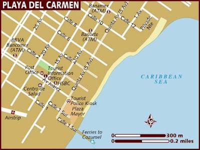 Mapa de Playa del Carmen Político Región