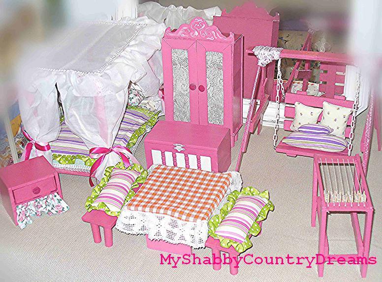 Mobili Per La Casa Di Barbie : Myshabbycountrydreams mobili per le bambole fai da te