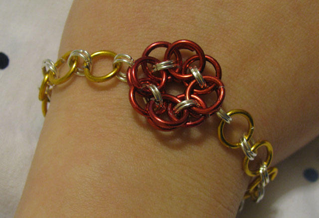 April Sprinkles: Chain Maile Bracelet