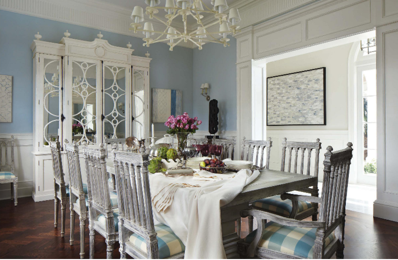 The glam pad october 2014 for Beach dining room ideas