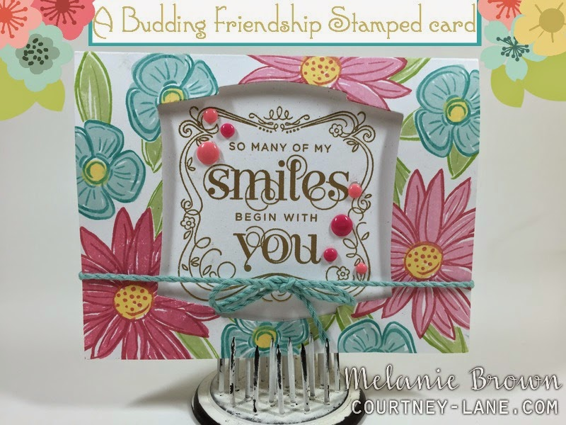Budding Friendship card
