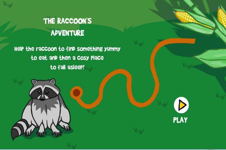 Kids Game : Racoon Maze