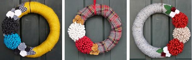 handmade wreaths by COZYmade :: foxwithglasses.blogspot.com