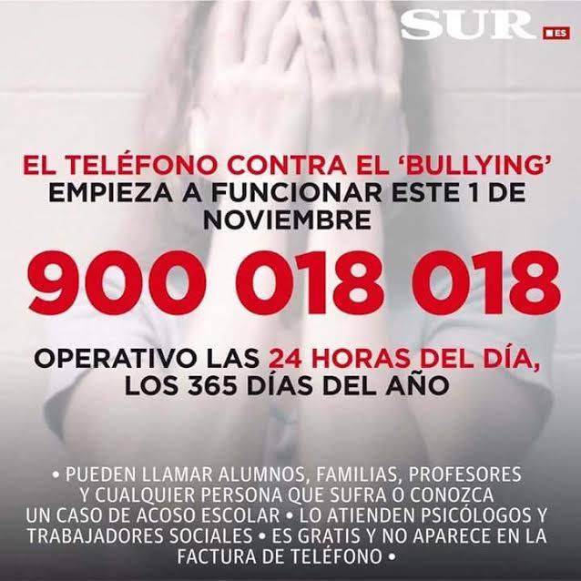 El nuevo teléfono contra el acoso escolar es el 900 018 018