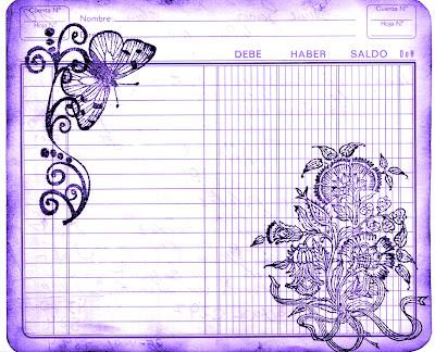 fondo vintage cuaderno de cuentas viejo violeta para scrapbooking y decoupage