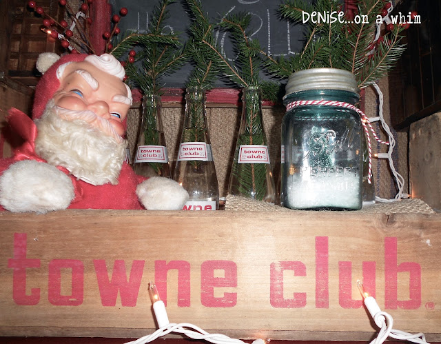 Vintage Soda Crate Christmas Decor via http://deniseonawhim.blogspot.com