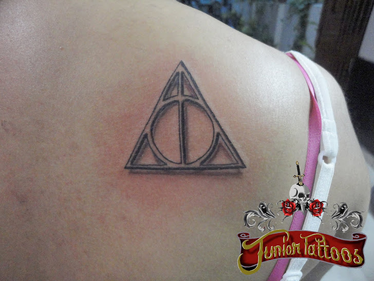 Deathly Hallows symbol tattoo