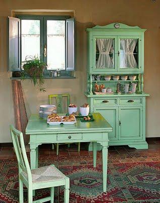 Decoraci n de interiores la cocina con muebles campestres - Aparadores de cocina ...
