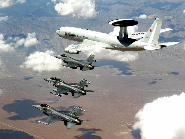E-3A Sentry & F-16 Fighting Falcons