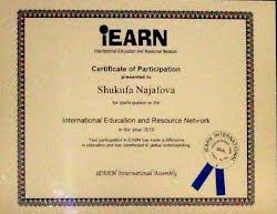 IEARN certificate