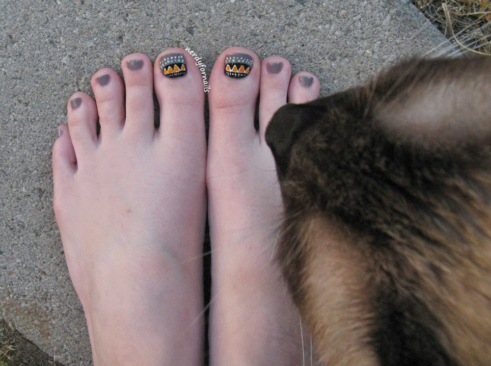 Tribal Toenail Art Pedicure Toesday