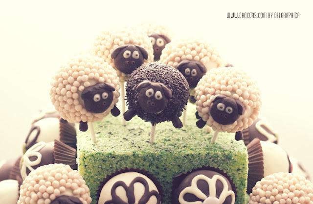 rebaño ovejas cakepops