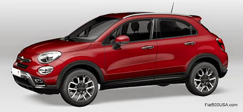 Fiat 500X in Red