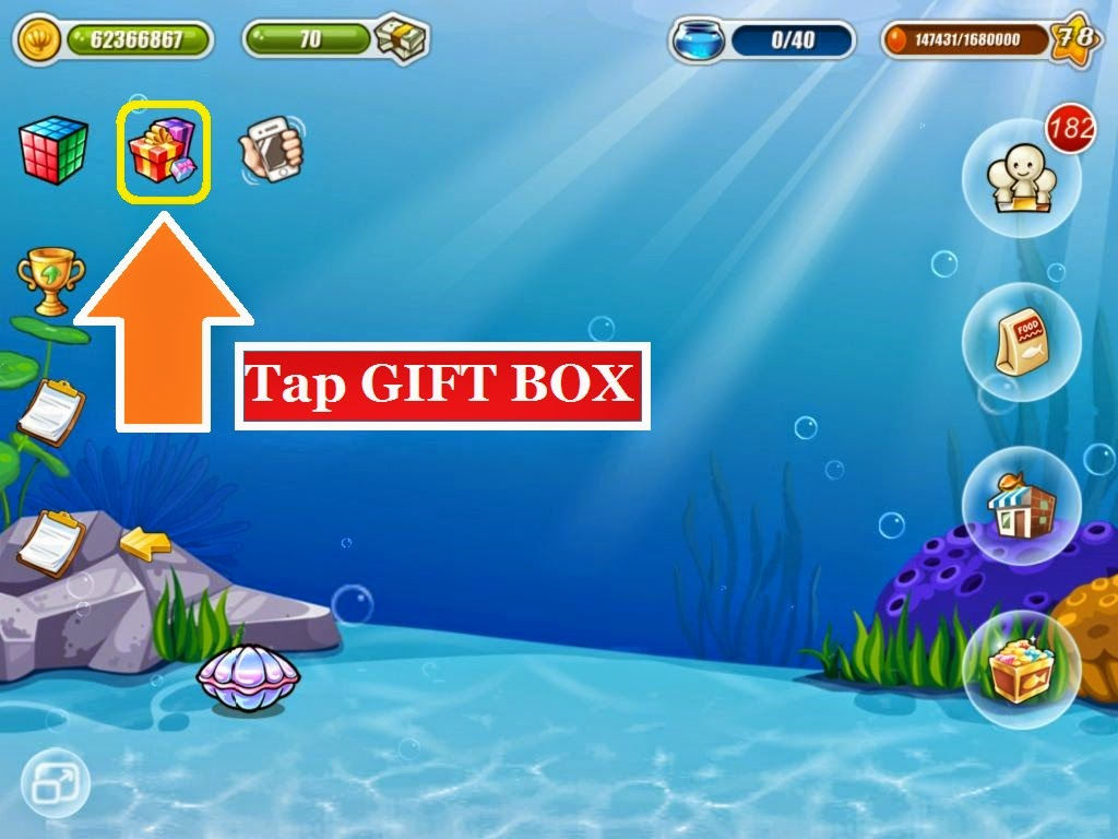 Happy fish tips ios devices how to redeem bonus code for Tap tap fish cheats