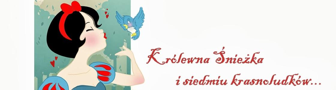 Królewna Śnieżka i siedmiu krasnoludków.