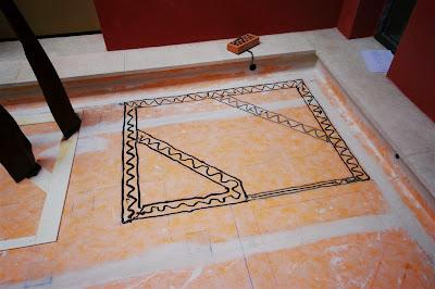Proceso de montaje de trabajo de acero corten