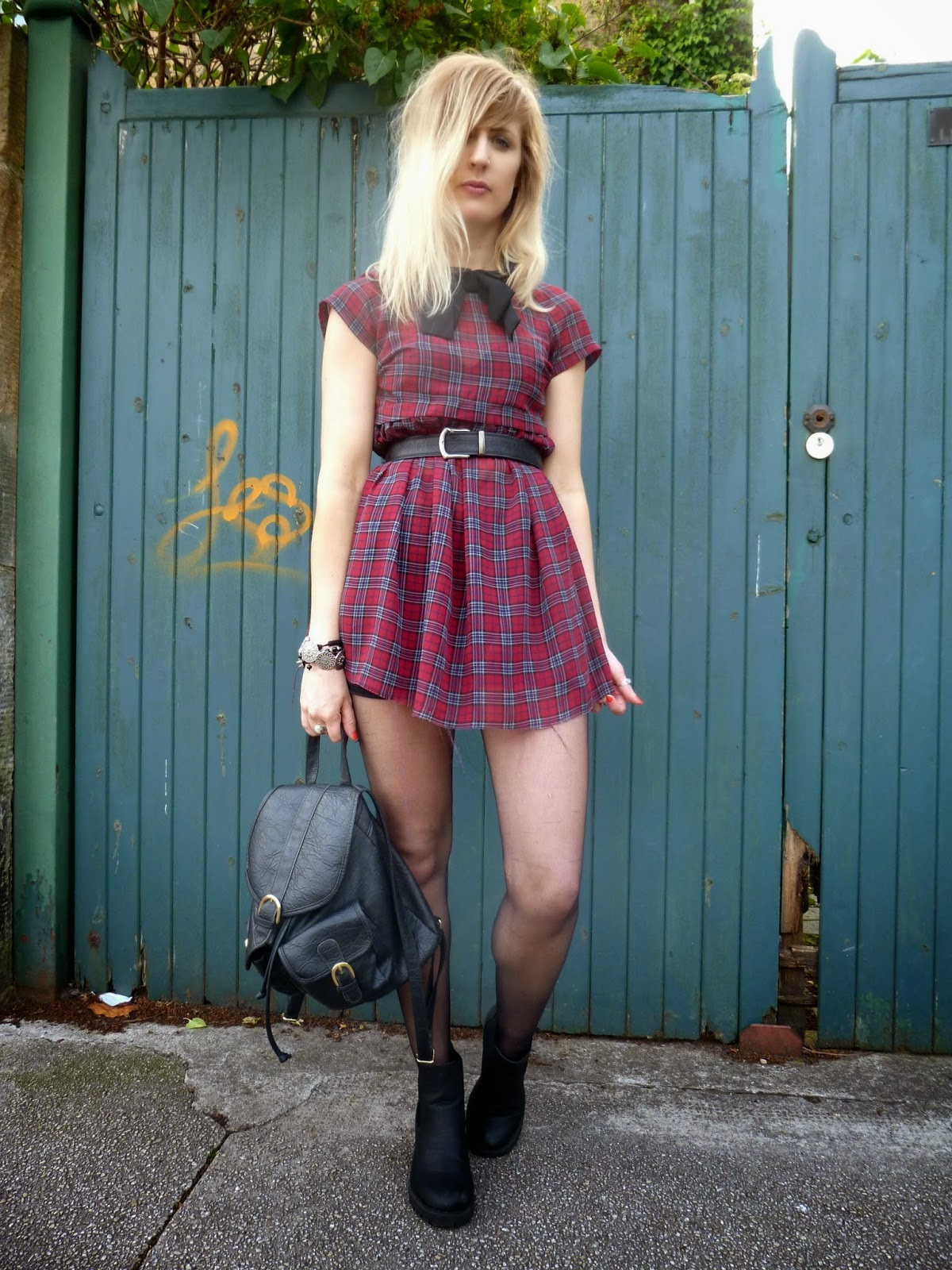 Primark tartan tea dress