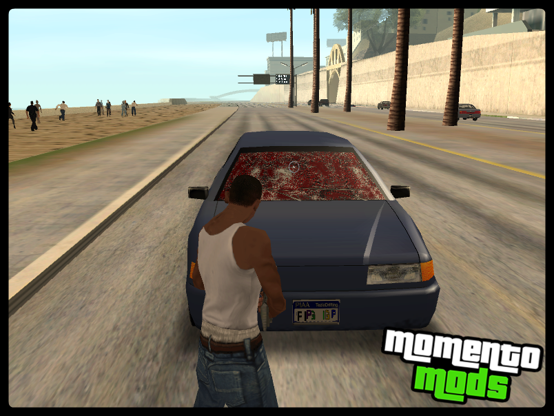 GTA SA - Mod Sangue No Vidro