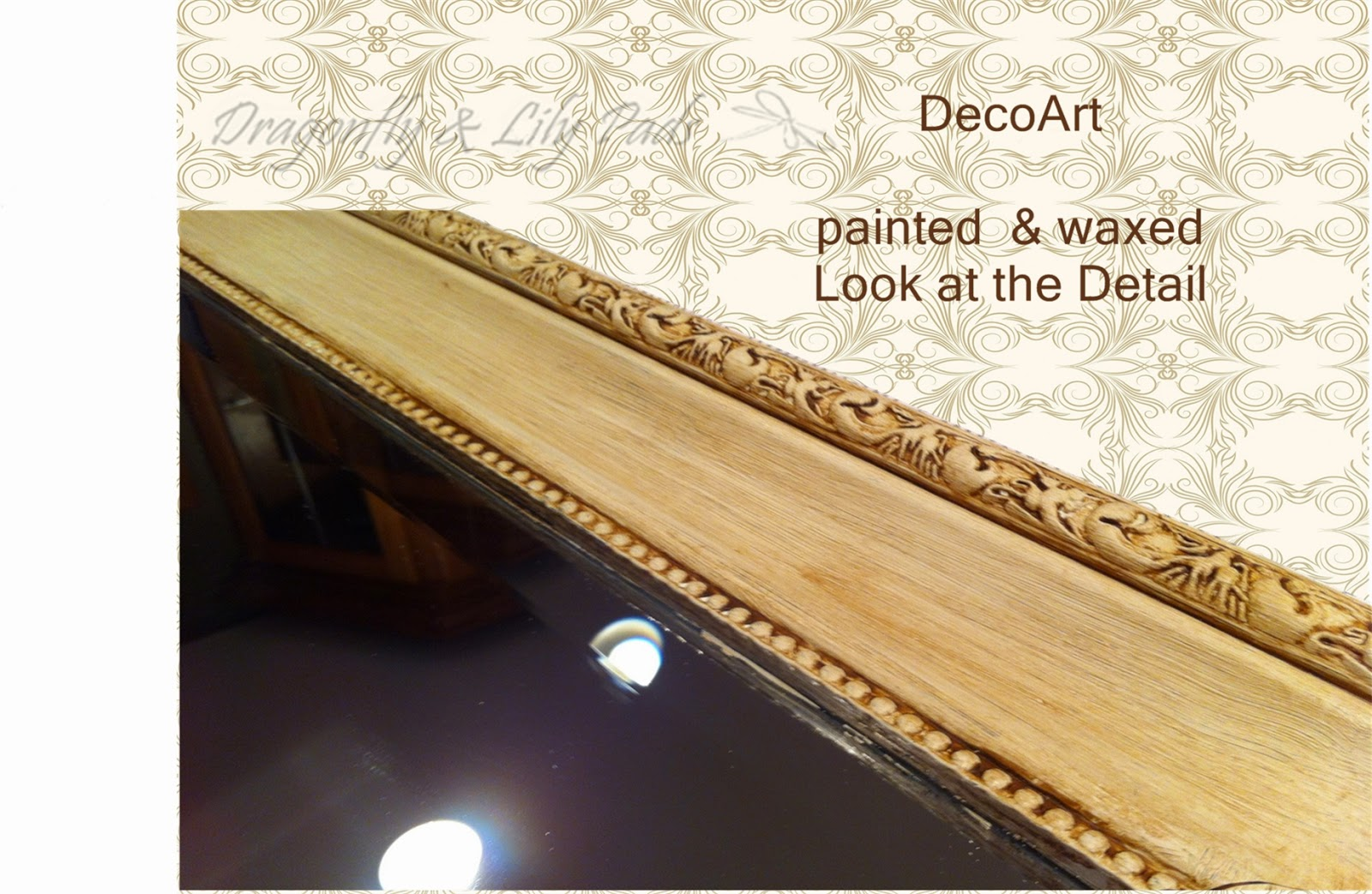 DecoArt Americana Chalky Paint Finish, Wax, Pretty, Painted, Mirror