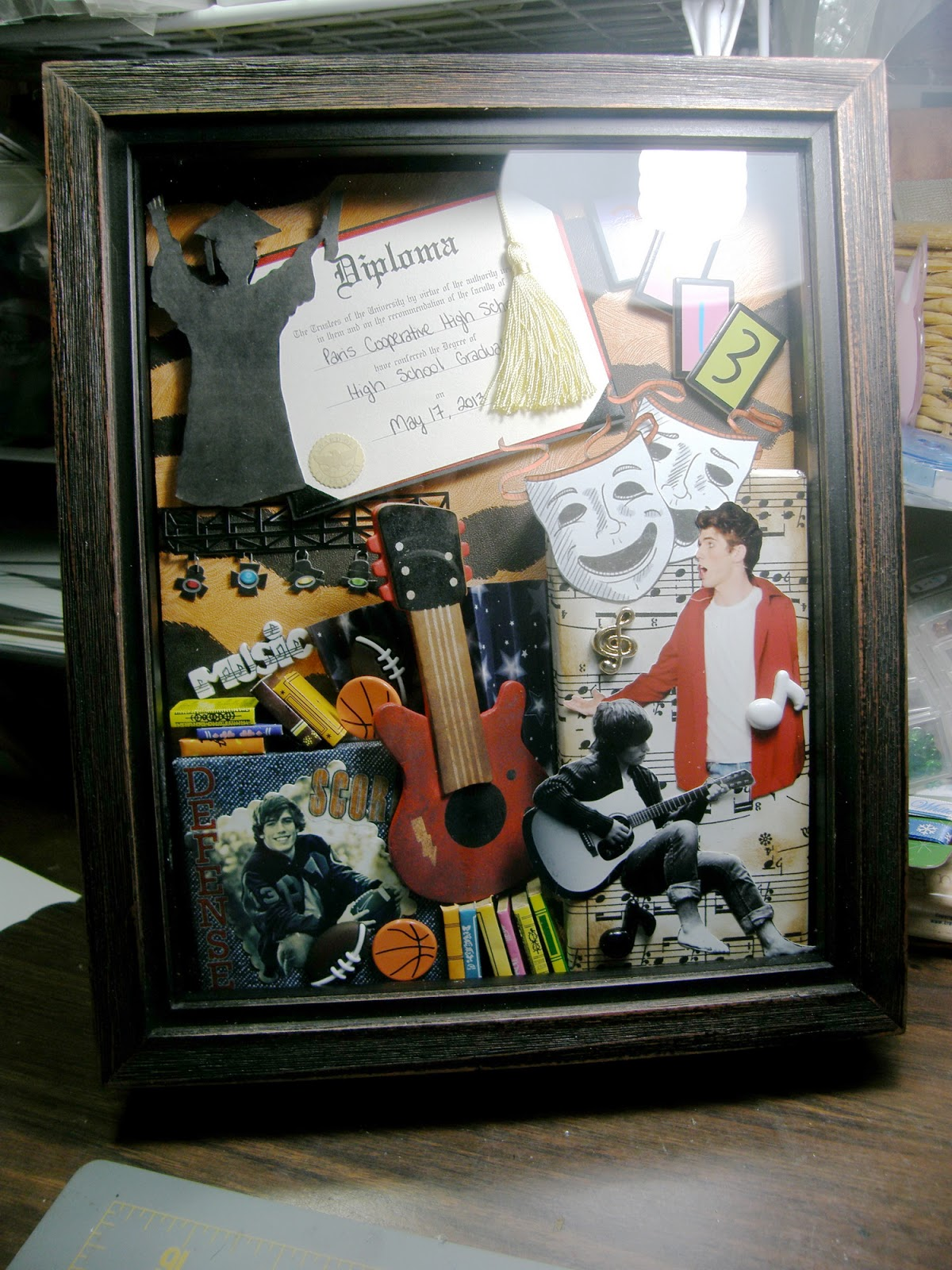 Luv My Cards Shadow Box Graduation Present Cheryl Alger 39 S