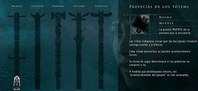 until dawn totems coleccionables