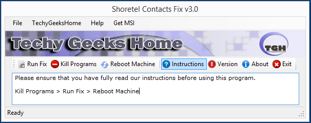 Shoretel Contacts Fix