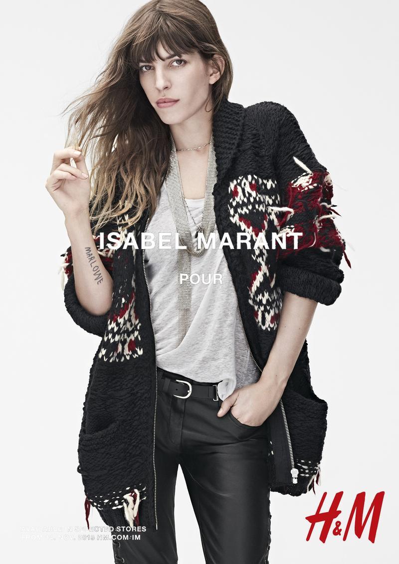 Lou Doillon in Isabel Marant pour H&M campaign