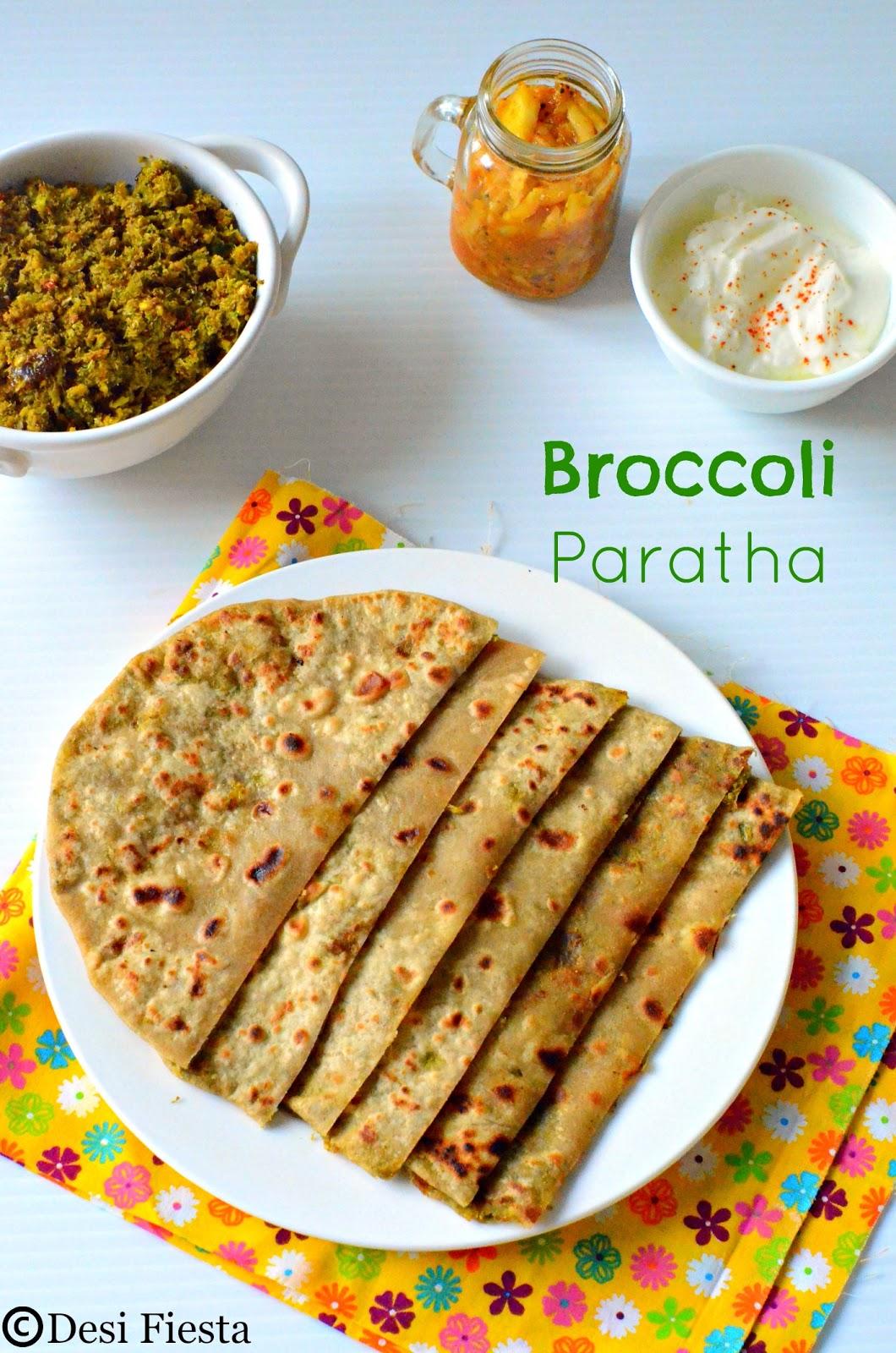 Indian Broccoli Paratha Recipe
