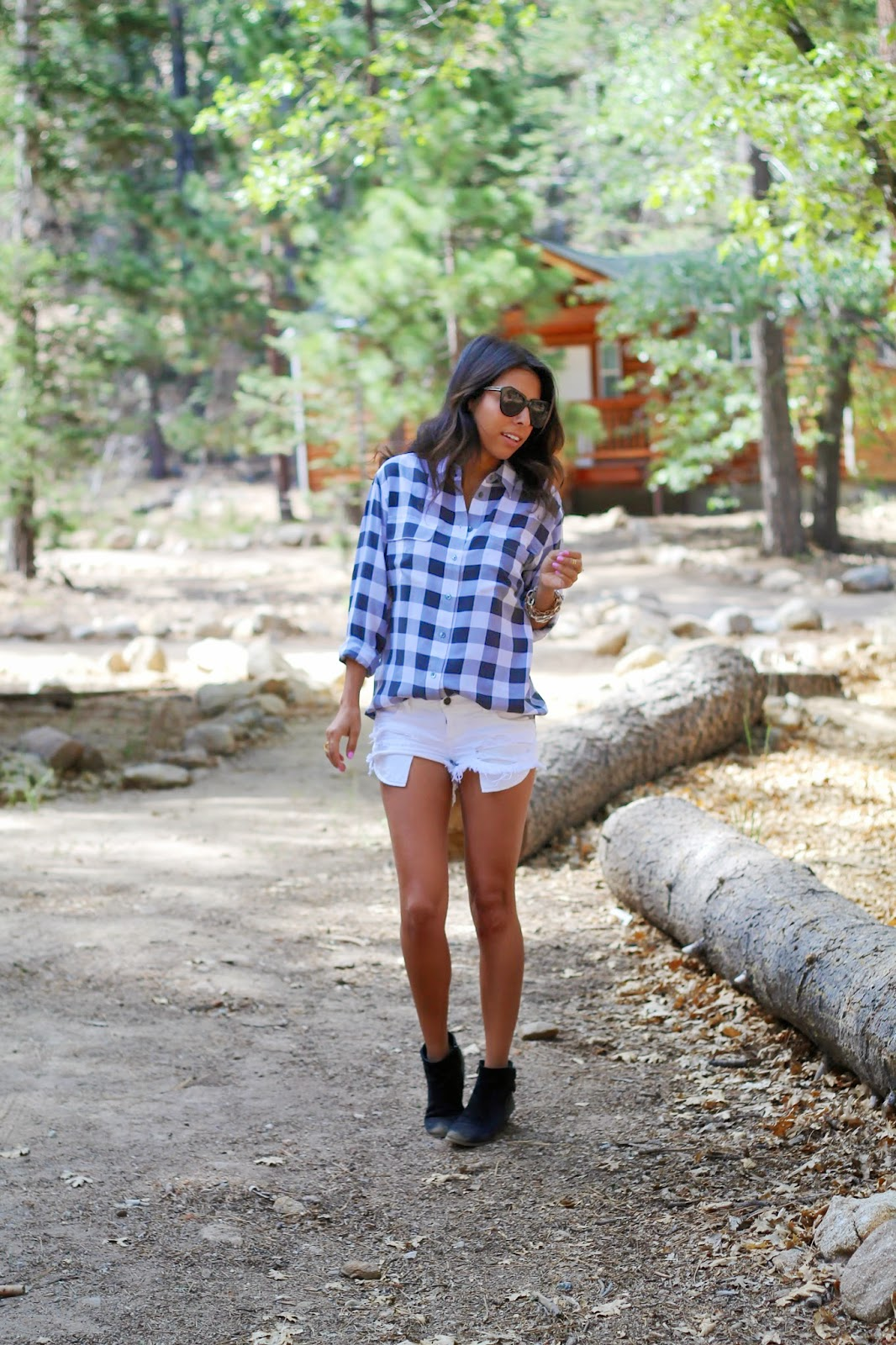 gingham shirt, camping outfit, what is fashion, booties, shoes