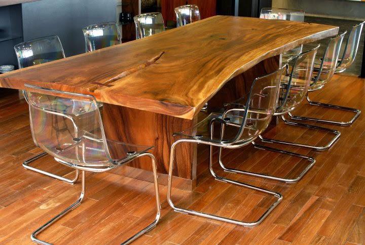 Mesas de madera para cocina cocinas y ba os reposteros for Table cuisine bois exotique