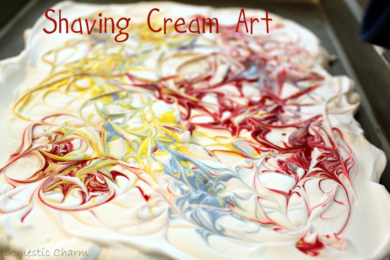 Domestic charm shaving cream art for Shaving cream paint
